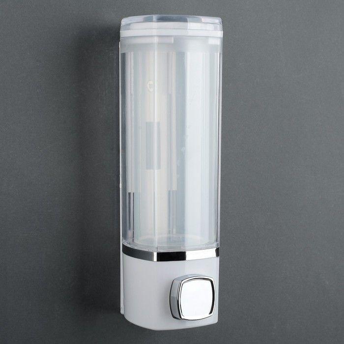 Диспенсер для жидкого мыла механический 280 мл, 20.5×7.5×6 см, пластик, цвет МИКС