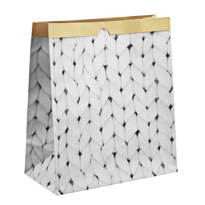 """Крафтовый пакет для хранения """"Теплые мгновения"""", 32х36х16 см"""
