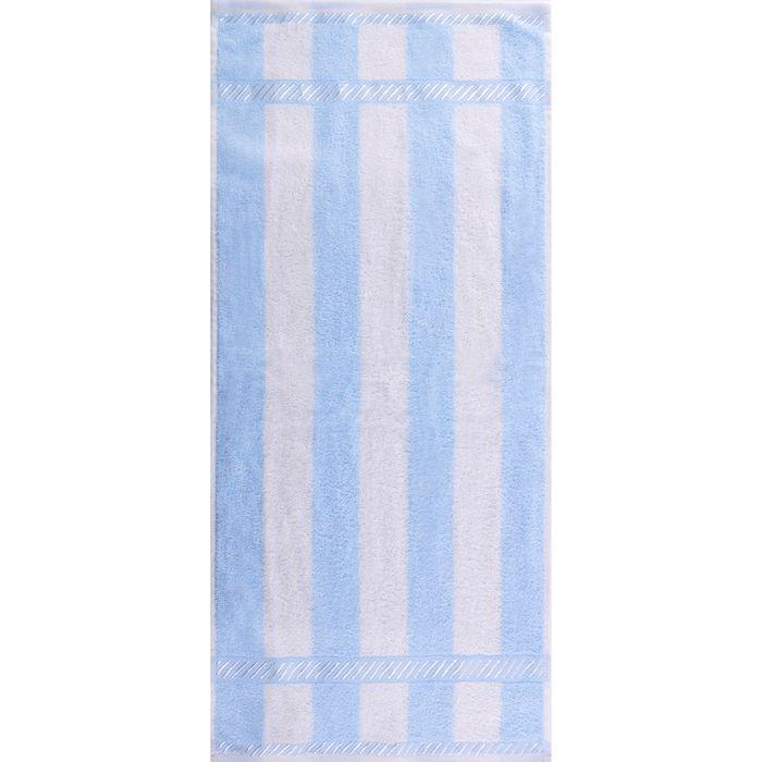 """Полотенце махровое """"Пастила"""" 65х135 см,голубой,390 г/м2, 100% хлопок"""