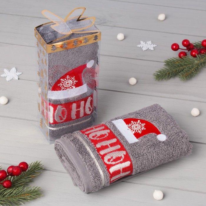 "Полотенце махровое ""Ho-Ho"" 30х70 см, 100% хлопок 370 г/м2"