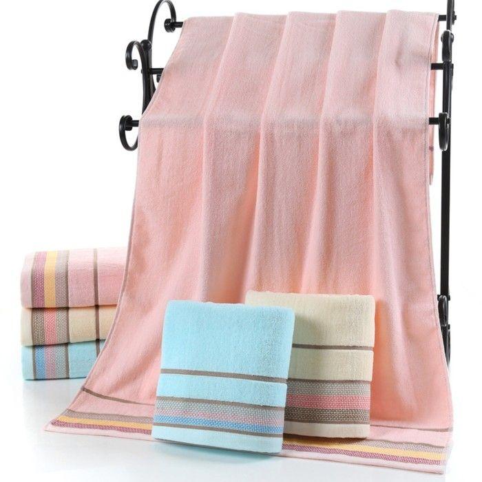 Полотенце махровое «Медовое», 50х90 см, розовое, хлопок