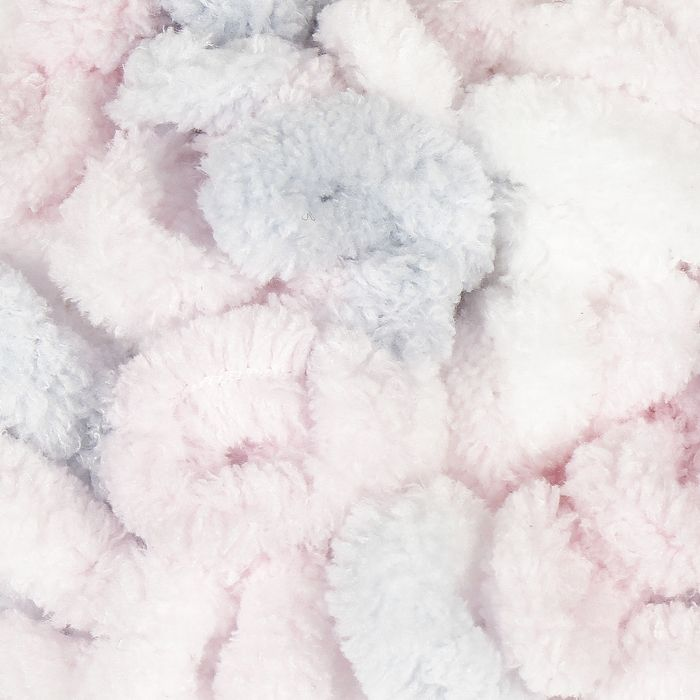 "Пряжа ""Puffy"" 100 % микрополиэстер 9м/100г  (5864 бело-розово-серый)"
