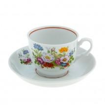 """Чайная пара """"Тюльпан. Букет цветов"""": чашка чайная 250 мл, блюдце d=15 см"""