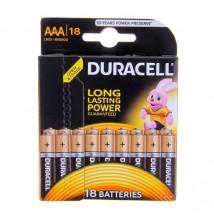 Батарейка алкалиновая Duracell AAA набор 18 шт. на блистере LR03-18BL BASIC NEW