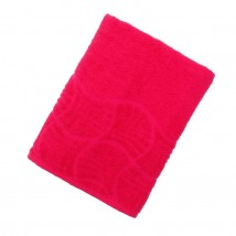 "Полотенце махровое банное ""Волна"", размер 70х130 см, 300 г/м2, цвет малина"