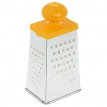 Тёрка четырехгранная с пластиковой ручкой и стороной для сыра, цвет МИКС