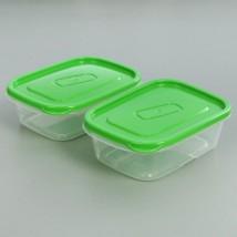 Набор контейнеров пищевых 500 мл, 2 шт, цвет голубой