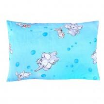 Подушка, размер 40х60 см, цвет голубой, принт МИКС (арт. 224)
