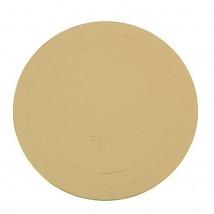 Подложка усиленная, 28 см, золото, 2,5 мм