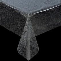 Клеенка ПВХ (рулон 50 метров), ширина 137 см, толщина 0,16 мм, прозрачная с серебром