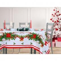 """Столовый набор """"Этель"""" Рождественский бал, скатерть 180х150 см, салфетки 40х40 см - 8 шт., хлопок 100%, 183 г/м2"""