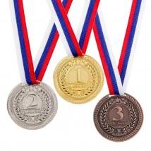 Медаль призовая 063 диам 5 см. 1 место. Цвет зол