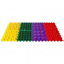Коврик массажный модульный «ОРТО ПАЗЛ», 8 модулей, МИКС покрытий и цветов № 3