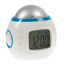 """Часы-будильник """"Звездное небо"""", 3*ААА, дата/часы/температура, 8 мелодий, 11х11х11см 6679"""
