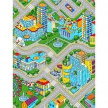 Палас Мегаполис, размер 200х250 см, цвет серый, войлок 195 г/м2
