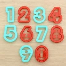 """Набор форм для вырезания печенья 10 шт """"Цифры"""", цвета МИКС"""