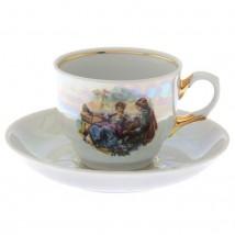 """Чайная пара """"Тюльпан. Мадонна"""": чашка чайная 250 мл, блюдце d=15 см"""