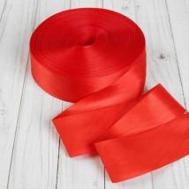 Лента атласная, 5см, 100±1м, цвет красный