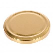 """Крышка металлическая, толщина 0,20 мм, лакированная твист-офф, d=8,2 см,""""Елабужские крышки. Золотая"""""""