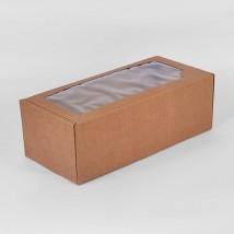 Коробка крафт из рифленого картона 16 х 35 х 12 см